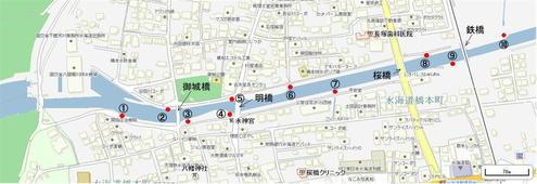 新八間堀川 樋管 地図