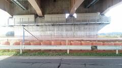 圏央道の橋脚の保護工14
