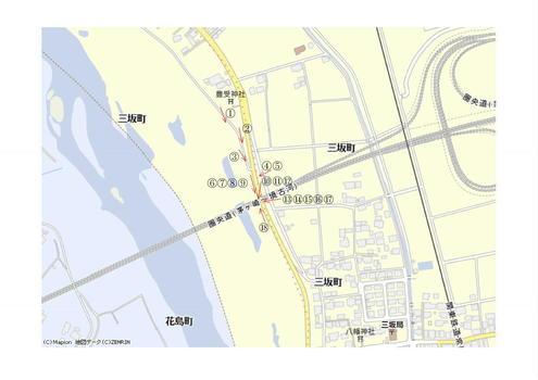 圏央道の橋脚 地図