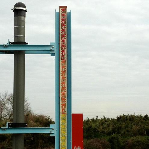 水位測定柱(先端)