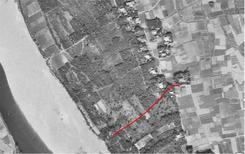 若宮戸の水管橋付近 市道 東0280(表示あり)